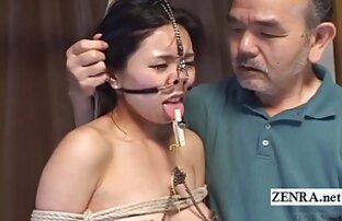 Ekstremna japanska BDSM kuka za nos i stezaljke sa titlovima