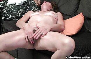 Dlakava stara dama prstom seksi video slikom